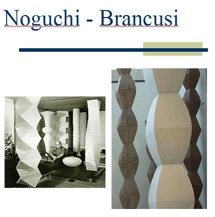 Coloane Noguchi lampi - Brancusi Coloana Infinitului