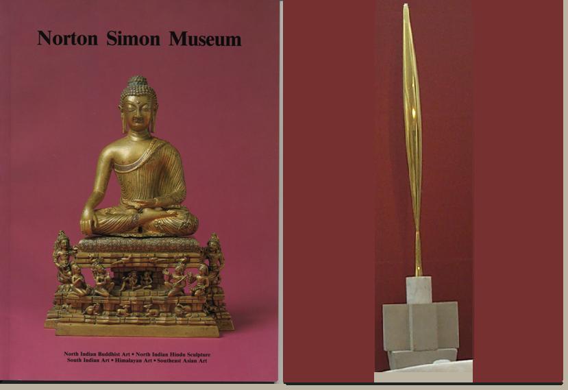 Revista de arta Indiana cu poza sculpturii lui Brancusi pe coperta