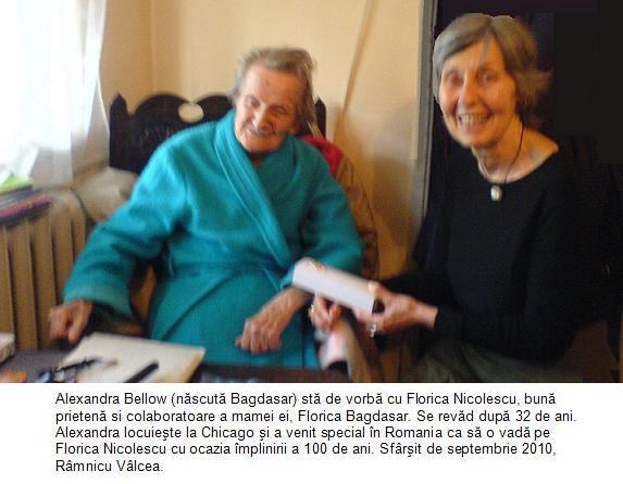 Florica Nicolescu si Alexandra Bagdasar