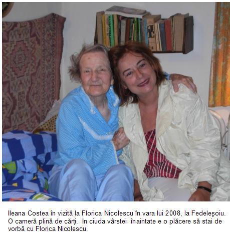 Ileana Costea in vizita la Florica Nicolescu la Fedelesoiu