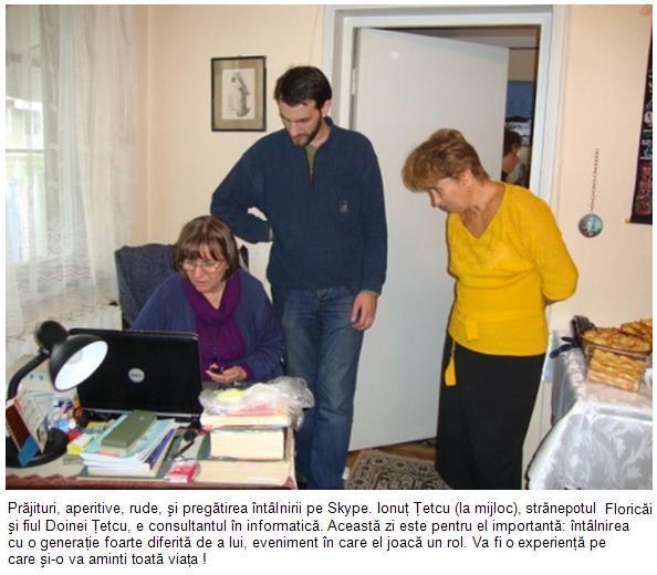 Ionut Tetcu o ajuta pe Doina Tetcu sa porneasca Skype-ul