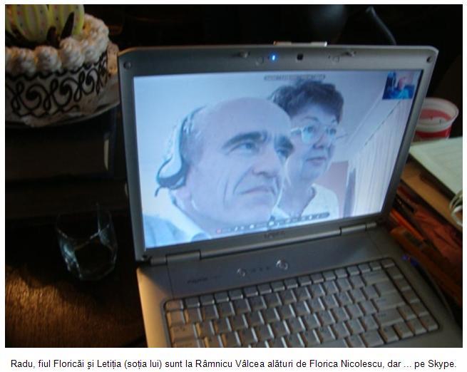 Radu si Letitia pe Skype de la Auckland